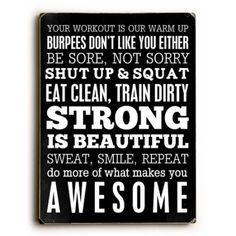 """ArteHouse Decorative Wood Sign """"Fitness Motivation"""" by Artist Cheryl Overton, x Planked Wood"" Fitness Motivation Wall, Fitness Quotes, You Fitness, Weight Loss Motivation, Weight Loss Tips, Fitness Tips, Lose Weight, Health Fitness, Health Motivation"