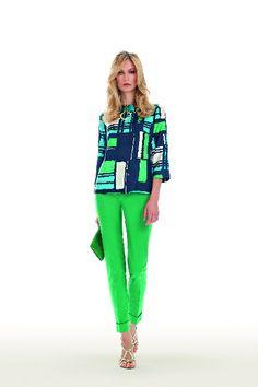 Pant verdi e blusa   #luisaspagnoli #clothes #abbigliamento #abbigliamentodonna #womenswear #springsummer #primaveraestate #springsummer2014 #primaveraestate2014 #moda2014 #abiti