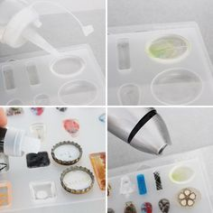 The Easiest Way to Make Resin Jewelry -put the bottles of resin/hardener in hot water before? Interesting