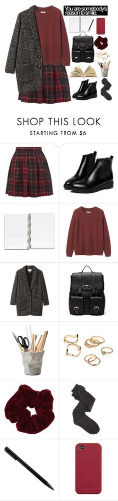"""School on monday"" by blacksky000 ❤ liked on Polyvore featuring Toast, Étoile Isabel Marant, Sole Society, ESSEY, Forever 21, Miss Selfridge, Charlotte Russe and Cole Haan"