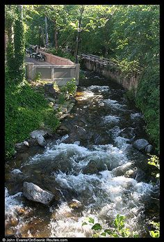 Ashland Creek, runs right thru the town of Ashland, Oregon