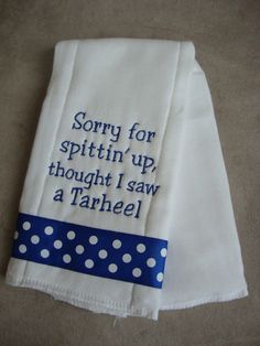 Hey, I found this really awesome Etsy listing at http://www.etsy.com/listing/97486069/blue-devil-burp-cloth