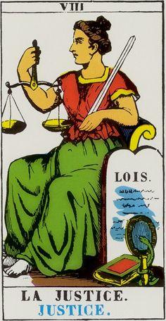 XI. Justice: Tarot d' Epinal
