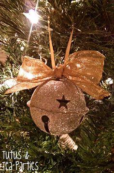 polar express inspired ornament