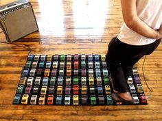 David Byrne - Interactive Guitar Pedal Art Installation
