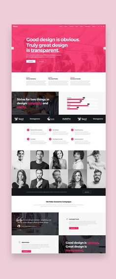 Buy Pitch - Digital Agency & Freelancer Theme by Select-Themes on ThemeForest. Let your creativity flow with a theme tailerod to perfectly fit the needs of any freelancer, agency, designer or cre. Simple Web Design, Web Design Tips, Creative Design, Design Ideas, Portfolio Web Design, Web Design Agency, Great Websites, Personal Portfolio, Talent Agency
