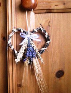 Lammas Decoration Wheat , barley Lavender vine hearts