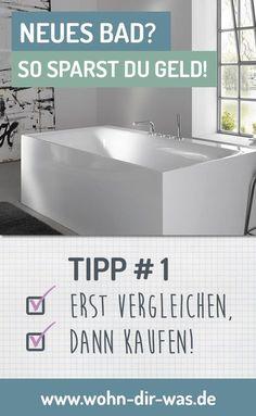 Badezimmerideen Du planst ein modernen, schönes, helles, neues #Bad ? Wir zeigen dir wo du sparen kannst und wie du die Kosten im Griff hast. Inspiration, Ideen und Tipps zum Thema #Badezimmer findest du auf www.wohn-dir-was.de Bildmaterial (c) KEUCO