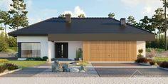 Projekt domu HomeKONCEPT-26 – wariant 3 | HomeKONCEPT House Plans, Garage Doors, Exterior, House Design, House Styles, Outdoor Decor, Home Decor, Flat, Random