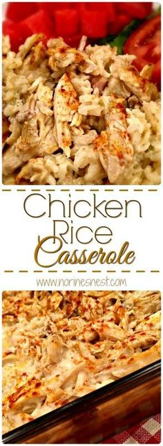 Chicken Rice Casserole is comfort food at it's best! This simple to make yummy…