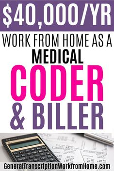 How to make 40,000 a year working from home as a medical coder and biller. There is a huge demand for medical coders and a 50% shortage. Medical coding is a great career with a lot of advancement opportunities. #medicalbilling #medicalcoding Transcription Jobs From Home, Medical Coder, Medical Billing And Coding, Medical Careers, Online Side Jobs, Best Online Jobs, Pharmacy Assistant, Medical Administrative Assistant, Legitimate Work From Home