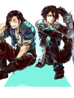 Laguna and Squall - Final Fantasy VIII