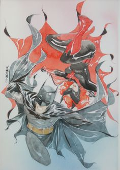 alexhchung:    Batman & Batwoman by Dustin Nguyen