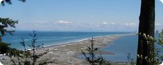 Dungeness Spit - photo courtesy of Clallam County Parks. A fabulous beach and beach hike near Sequim, WA. Lighthouse, marine traffic, and the occasional whale!