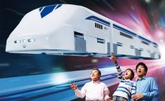 In Japan Even the High-SpeedToy Trains Float On Magnets