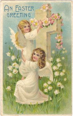 Wings of Whimsy: Holy Easter Angels - free for personal use #vintage #ephemera…