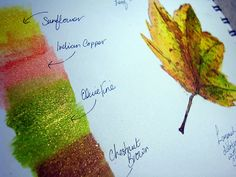 watercolor leaf - nice little tutorial by Dion Dior  #journal #art #watercolor