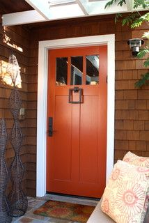 Larkspur Entry, paint color - Firefly by paint Exterior Door Colors, Front Door Paint Colors, Exterior Front Doors, Painted Front Doors, Wall Colors, Dream Home Design, House Design, Best Front Doors, Benjamin Moore Paint