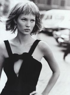 Kate Moss photographed by Peter Lindbergh for Harper's Bazaar US, September 1994. #dose