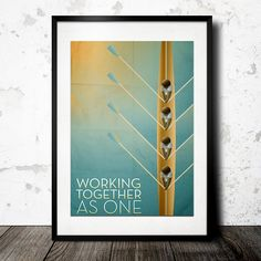 Working Together As One: Rowing Poster. Designed by: Kyle Bennett http://www.behance.net/kylebennettdesign Get inspired on Betype.co
