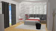 Single Bedroom / 3D on Behance