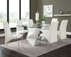 Ophelia+Dining+Room+Set+(Glossy+White)