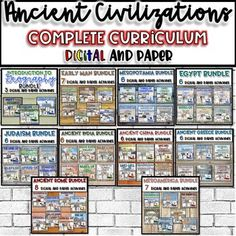 Ancient Civilizations COMPLETE Curriculum Bundle {Digital AND Paper} Social Studies Resources, Teacher Resources, School Resources, World Geography, Blended Learning, History Class, Creative Teaching, Back To School, Middle School