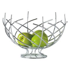 Crown Fruit Bowl by Torre & Tagus at Gilt Fruit Holder, Vegetable Basket, Grey Countertops, Fruit In Season, Dot And Bo, Home Decor Kitchen, Kitchen Dining, White Decor, Chrome Plating