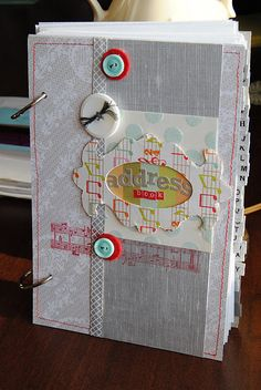 DIY Address book! I need to make a new one...