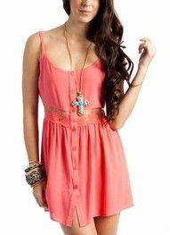 Stylish pink dress!