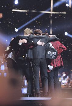Jungkook hugs BTS