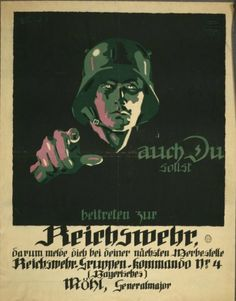 German poster: You too should join the Reichswehr