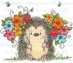 Whipper Snapper Designs is an expansive online store selling a large variety of unique rubber stamp designs. Hedgehog Art, Penny Black, Watercolor Cards, Whimsical Art, Rock Art, Cute Drawings, Cute Art, Painted Rocks, Painting & Drawing