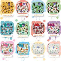 The range of Bambino Mio prints