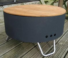 revolver fire pit - an outdoor fire pit suitable for grilling or bonfires, that can also be used as a table £154.99