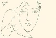 Le Visage de la Paix by Picasso http://www.worldgallery.co.uk/art-print/Le-Visage-de-la-Paix-(Silkscreen-print)-180509.html