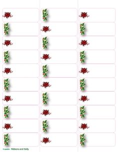 Free Printable Christmas Labels Templates  Christmas Address