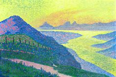 Sunset at Ambleteuse by @artrysselberghe #pointillism