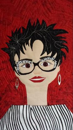 Looking for quilting project inspiration? Check out My Snazzy Self Portrait by member kaykaybirdy2.