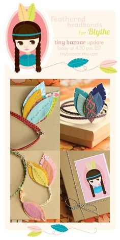 It would be fun just to make feathers out of felt like this. :)