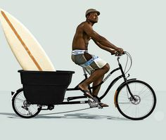 Whether your cargo is kids, laundry, groceries or beach gear, the coolest way to haul it is the Madsen Cargo bike.