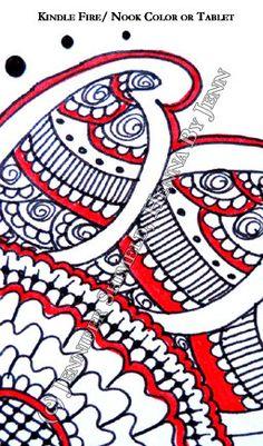 Digital Wallpaper Sunflower Henna Inspired CUSTOM by hennabyjenn, $3.25