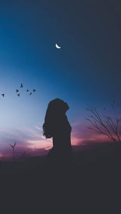 Silhouette wallpaper by - - Free on ZEDGE™ Moon And Stars Wallpaper, Night Sky Wallpaper, Beach Wallpaper, Scenery Wallpaper, Dark Wallpaper, Galaxy Wallpaper, Disney Wallpaper, Nature Wallpaper, A Letter Wallpaper