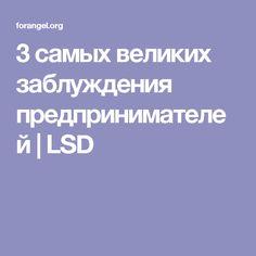 3 самых великих заблуждения предпринимателей | LSD
