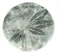 Fossil ooak gelatin monoprint by 88editions on Etsy, $38.00
