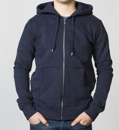 BOYS - EQIP logo zipper sweater - navy. For boys who also like to show their love for hockey off the field.