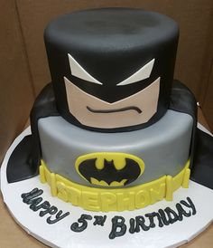 Calumet Bakery Batman Fondant Cake