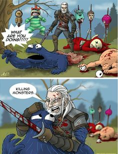 Geralt of Rivia in an alternative universe