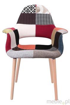 Piękne, niebanalne krzesło A-Shape patchwork, Dkwadrat - Meble
