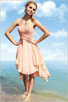 7c374dfbb Exquisito Vestido Para Eventos Largo a la Rodilla con Escote Corazón  Silueta Línea a y Cintura de